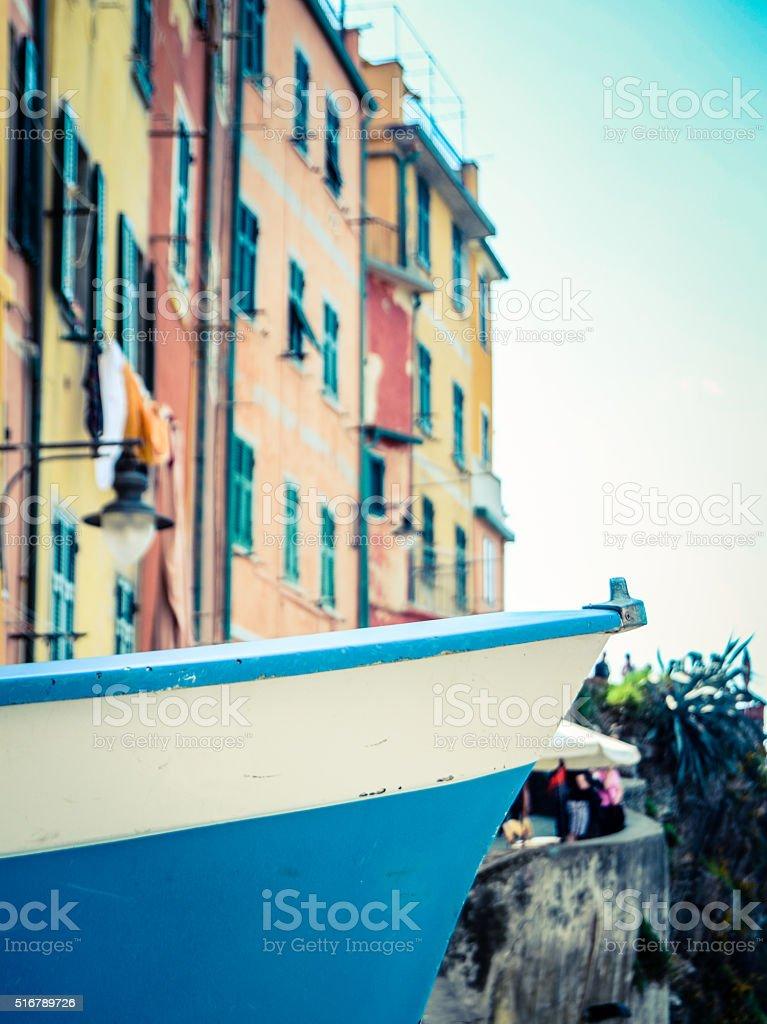 Italian Village Fishing Boat stock photo