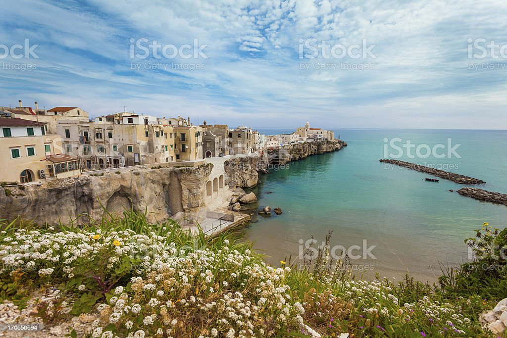 Italian Village of Vieste, Southern Italy stock photo