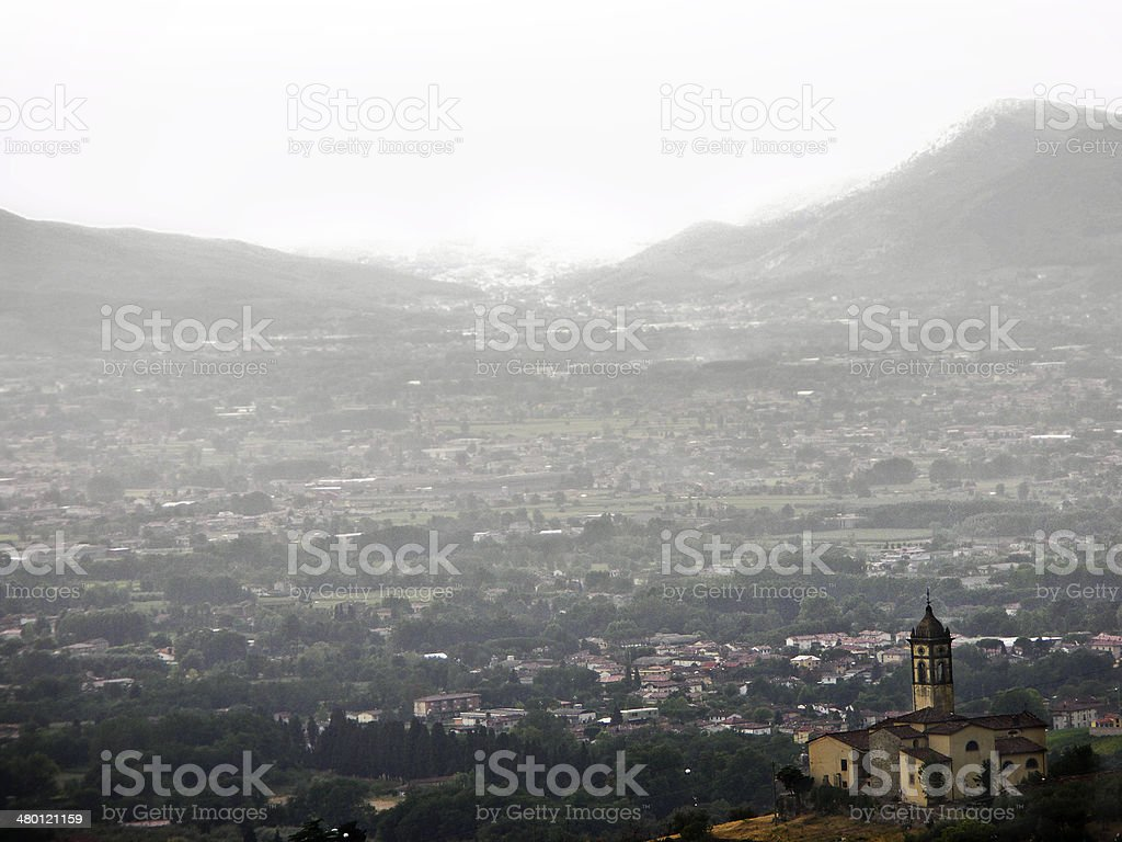 Italian Village stock photo