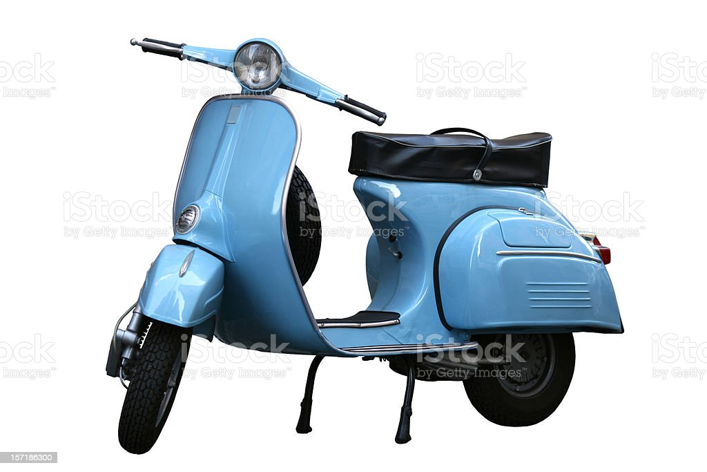 Italian vintage scooter in Rome, Italy stock photo