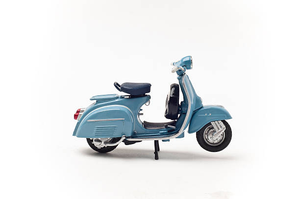 Italian vintage scooter stock photo