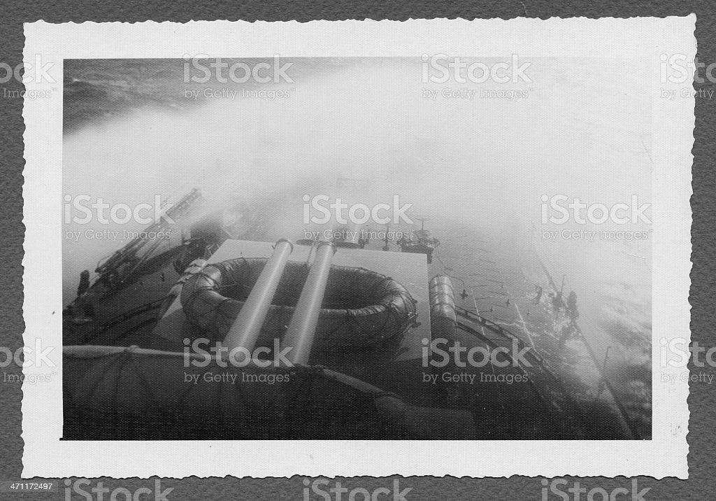 Italian warship in 1941 stock photo