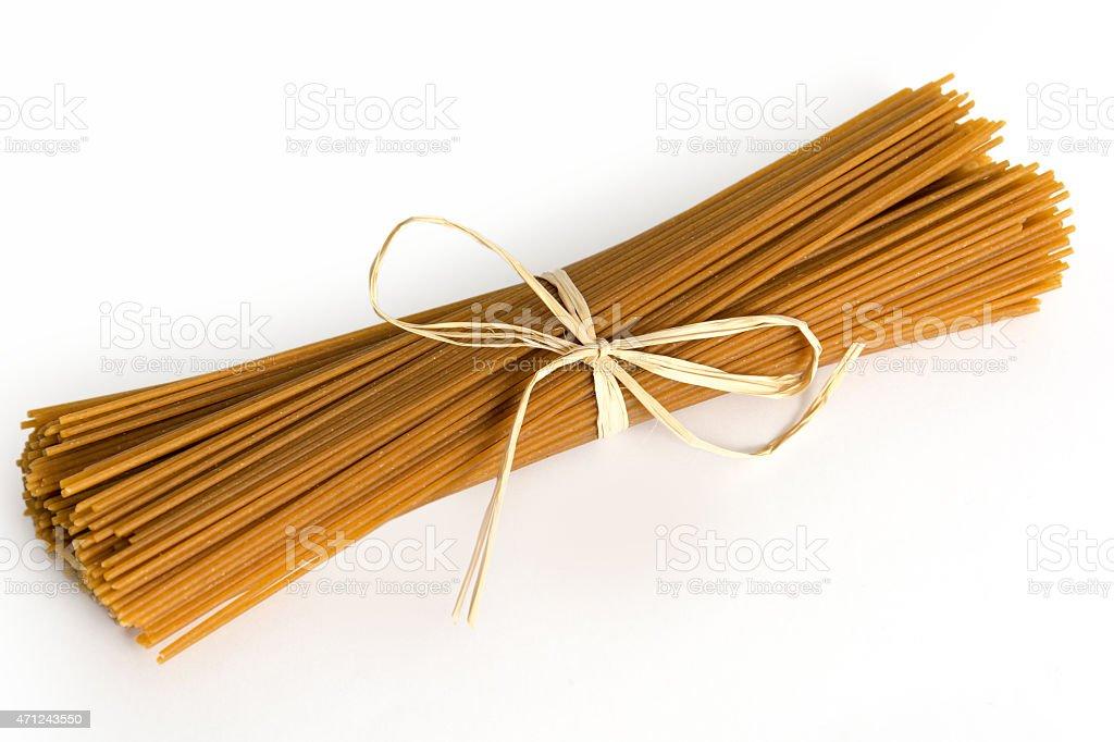 Italian wholegrain Pasta stock photo