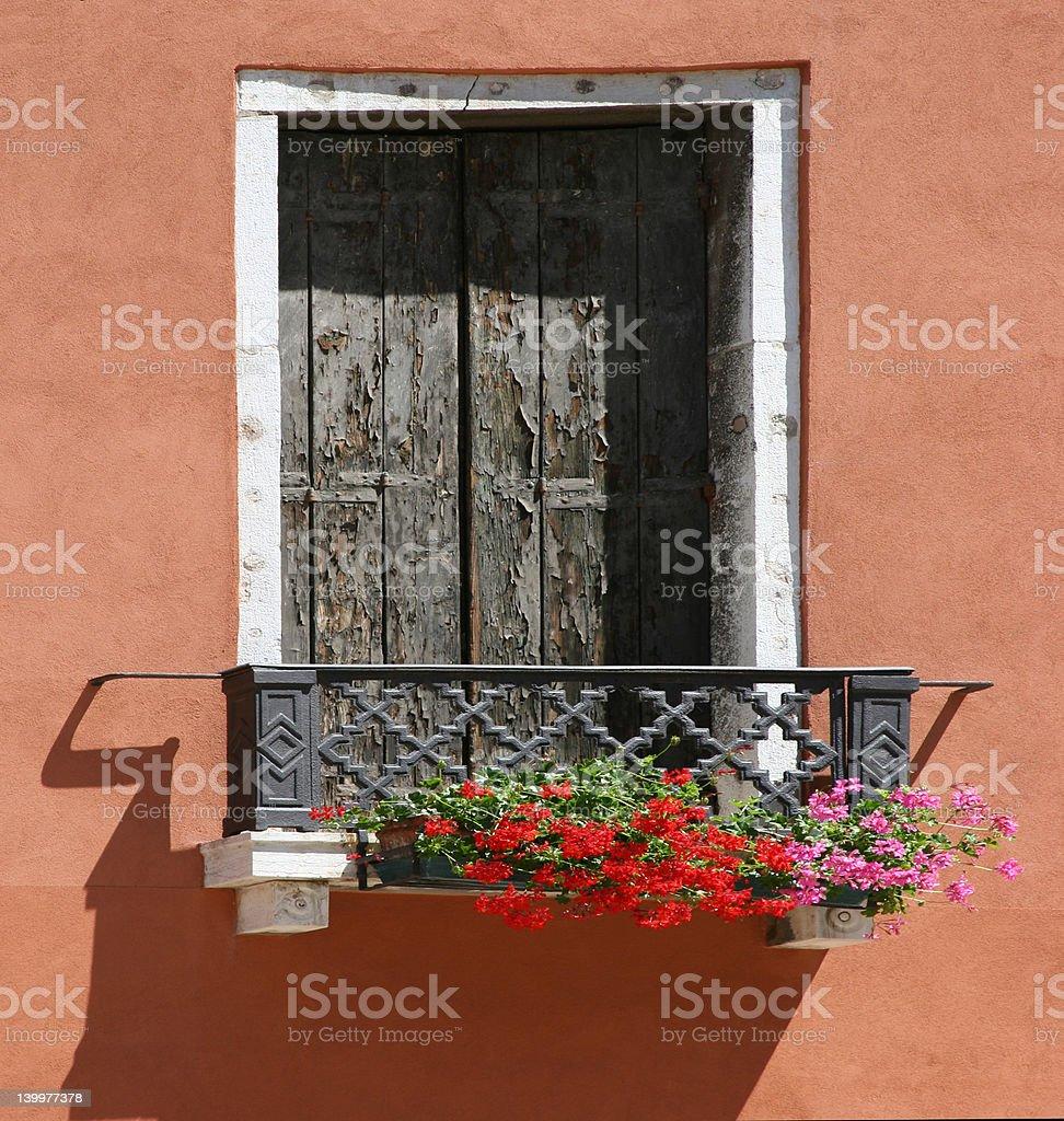 Italian window royalty-free stock photo