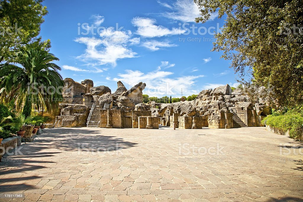 Italica Roman ruins in Seville. Spain. royalty-free stock photo