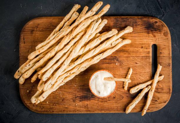 Itallian snack Grissini stock photo