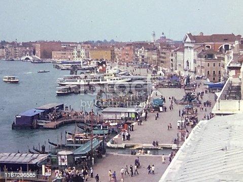 Venice gondola docks.