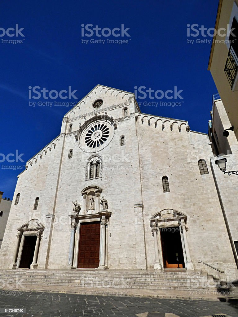 Italy, Apulia, Bari, St. Nicholas cathedral stock photo