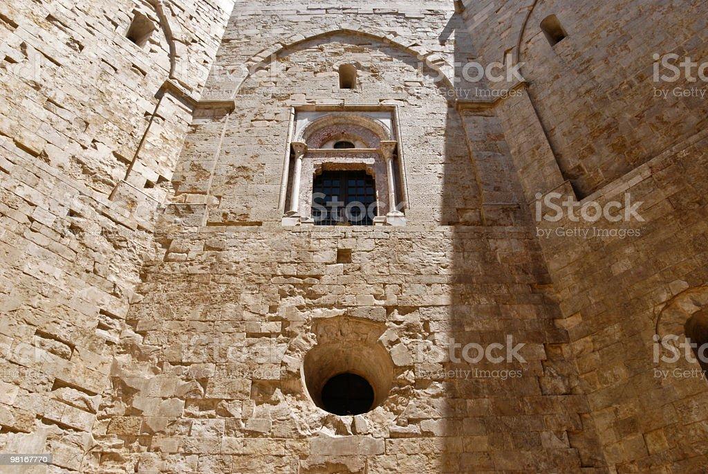 Italy, Apulia, Castel del Monte - Courtyard royalty-free stock photo