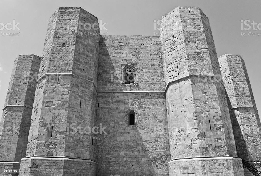 Italy, Apulia, Castel del Monte - Left side royalty-free stock photo