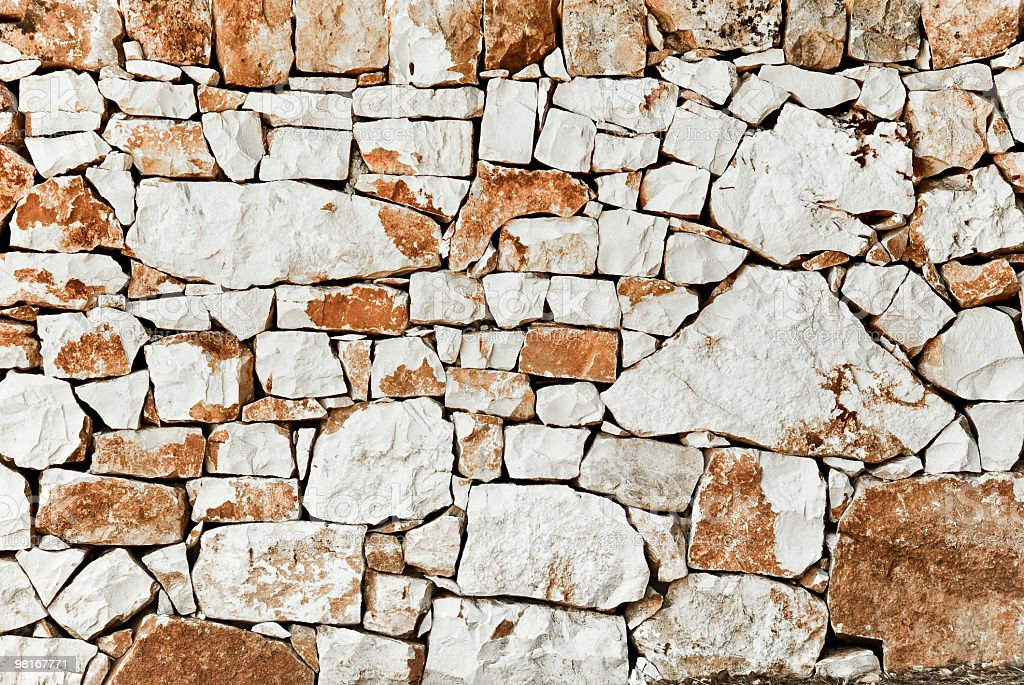 Italy, Apulia - Dry stone royalty-free stock photo