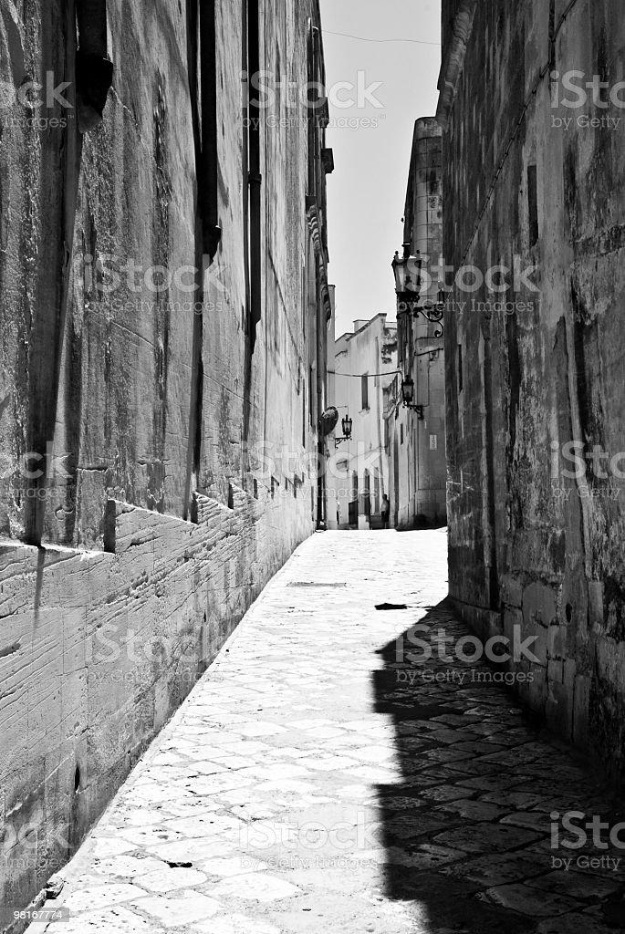Italy, Apulia, Otranto - Alley royalty-free stock photo