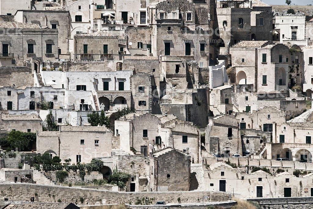 Italy, Basilicata, Matera - Some houses royalty-free stock photo