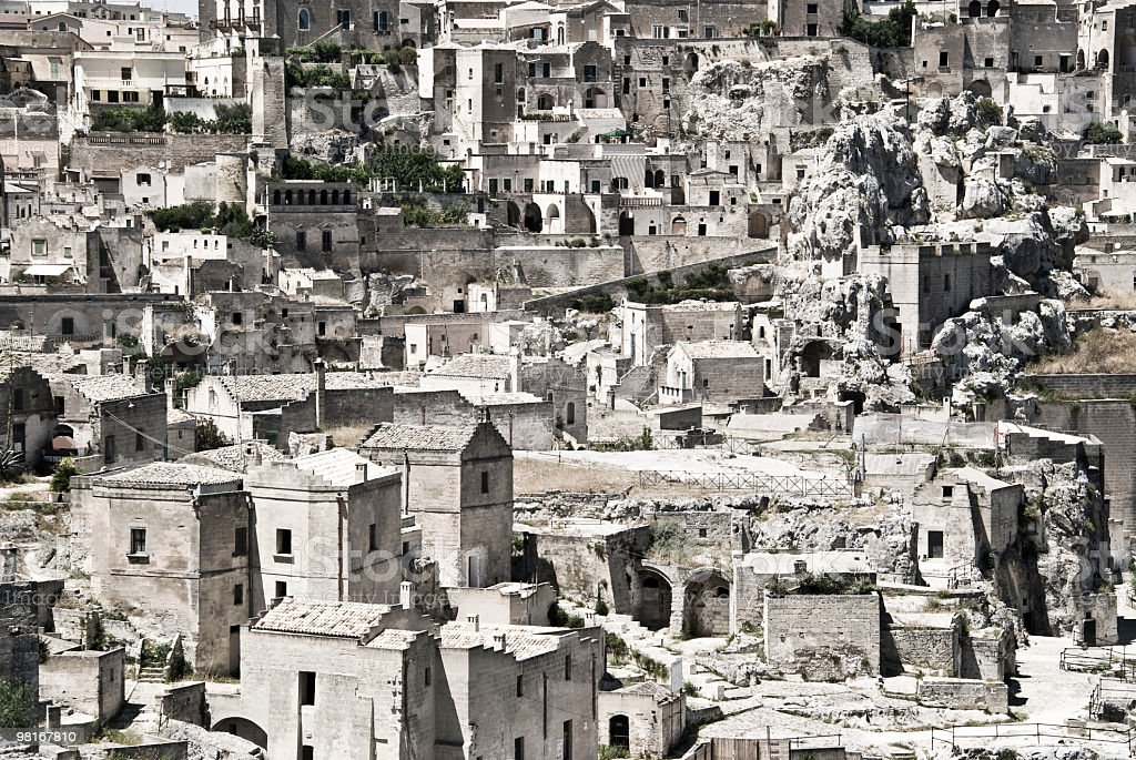 Italy, Basilicata, Matera - The ancient town royalty-free stock photo