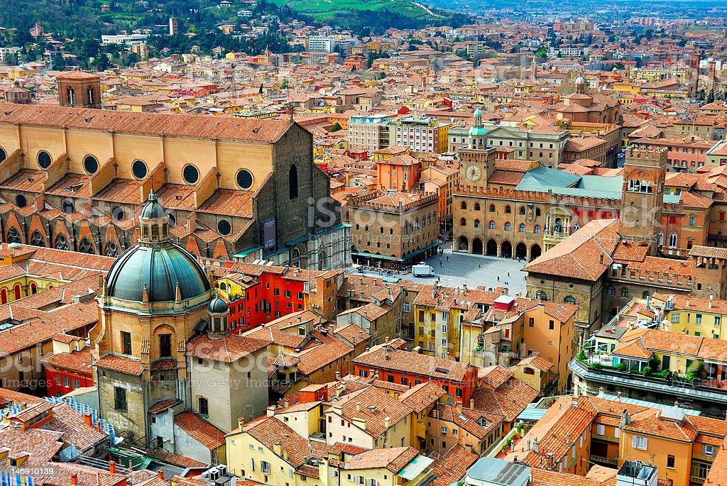Italy, Bologna main square. stock photo