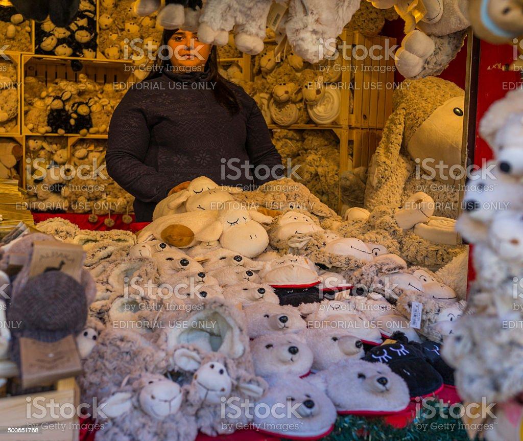 Italy. Bolzano/Bozen. Christmas market in the old town stock photo