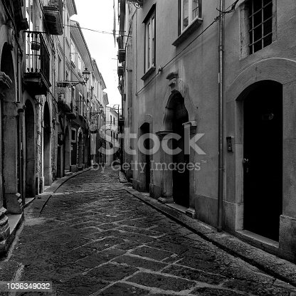 Italy, Campobasso, 05/25/2014: alley of the ancient village in the historic center of the city