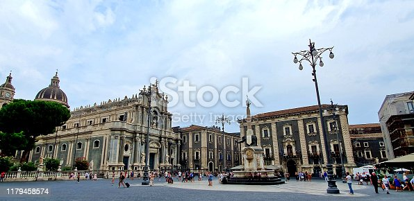 Italy, Catania ancient building and infrastructure