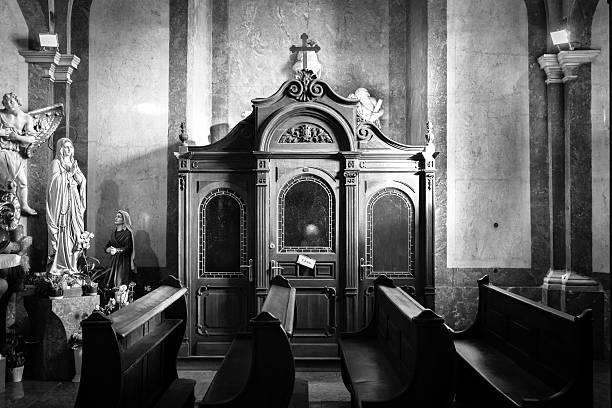 Italia. Chiesa confessionali - foto stock