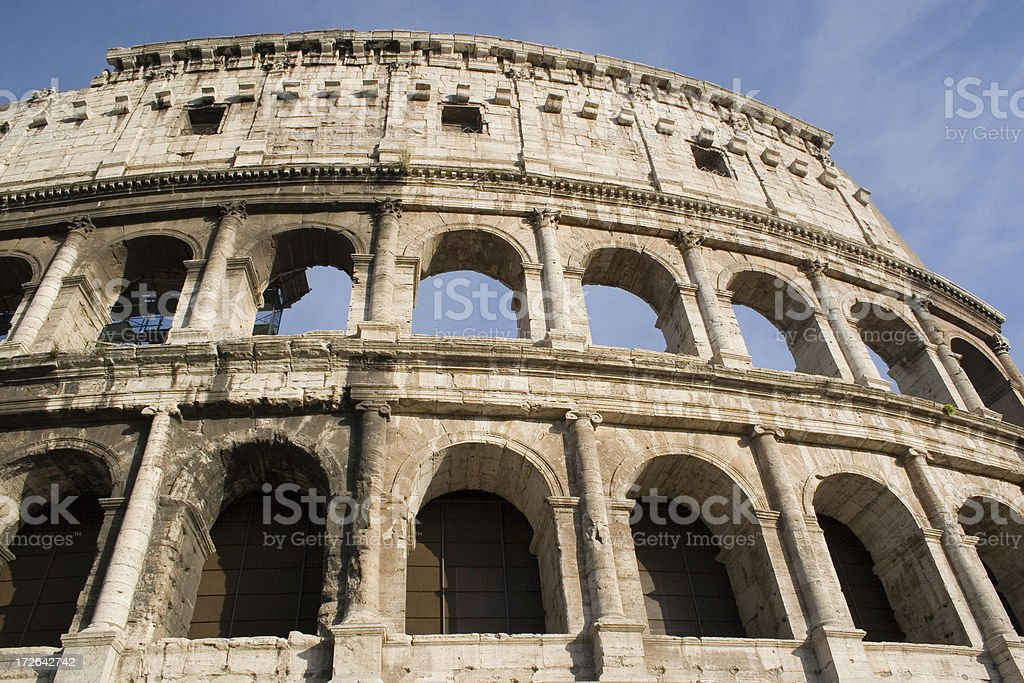 Italy: Coliseum from the Front royalty-free stock photo