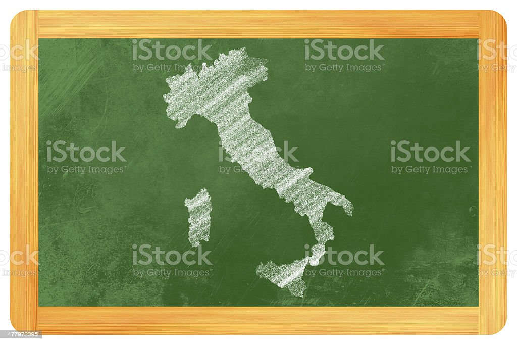 Italy drtawn on a Black board royalty-free stock photo