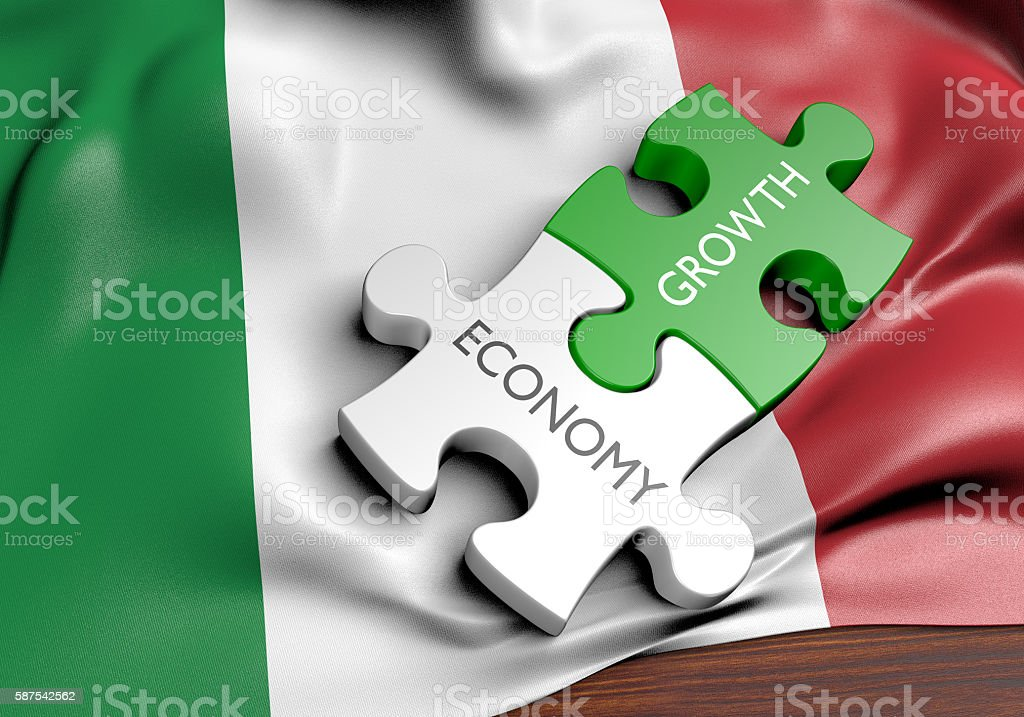 Italy economy and financial market growth concept, 3D rendering stock photo