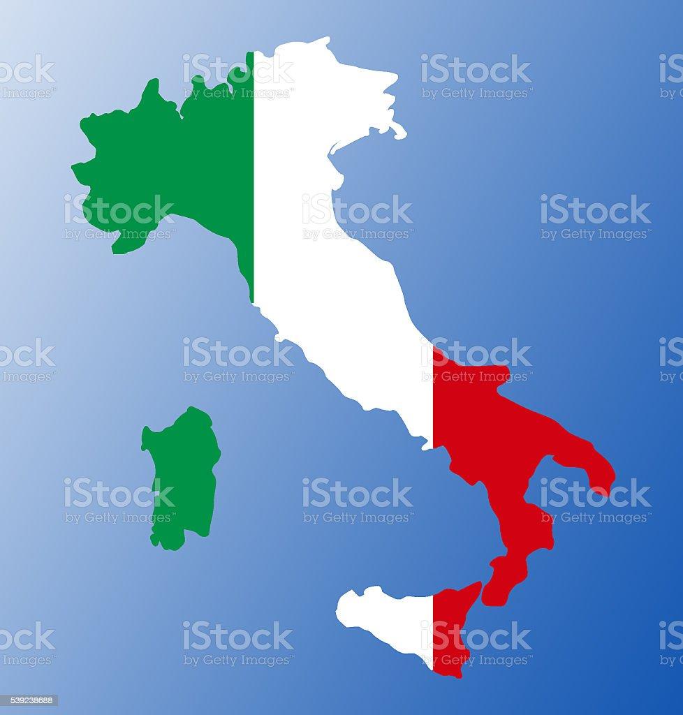 Bandera de Mapa de Italia foto de stock libre de derechos