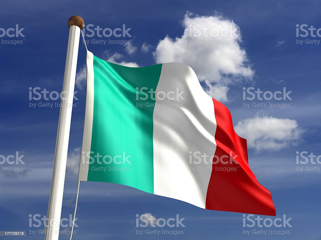 Italy flag (with clipping path) stock photo
