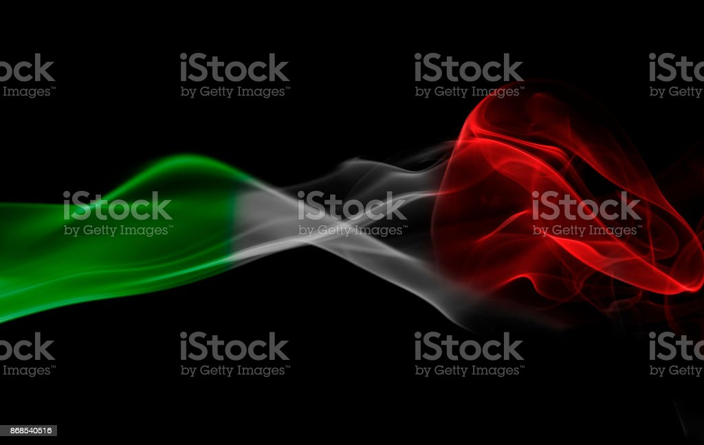 Humo de bandera de Italia - foto de stock