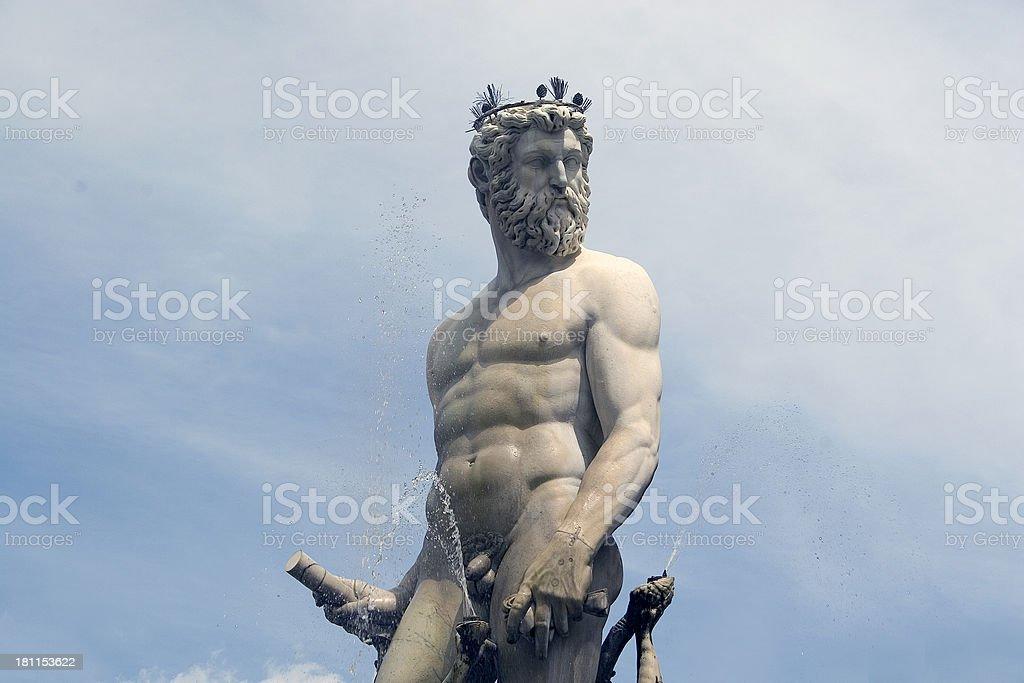 Italy: Fountain of Neptune stock photo