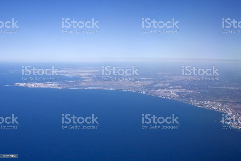 Italy from above royalty-free stock photo