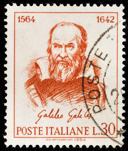 galileo galilei briefmarke italien - berühmte physiker stock-fotos und bilder