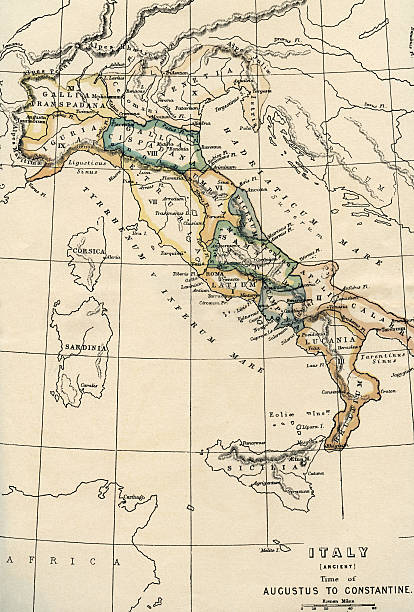 italy map - italy map stock photos and pictures