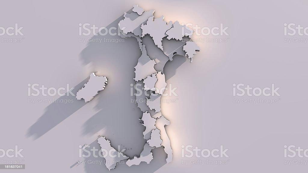 Italy map royalty-free stock photo