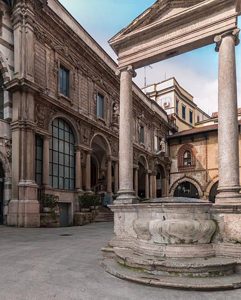 Italia, Milano, Piazza dei Mercanti (commercianti Square) - foto stock