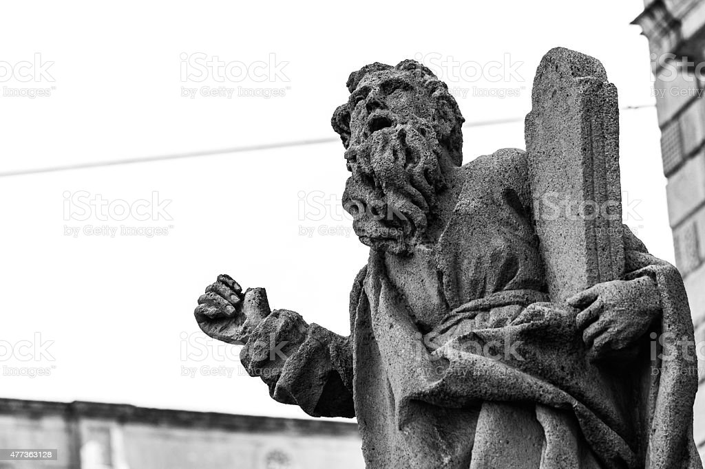 Italy: Moses' statue stock photo