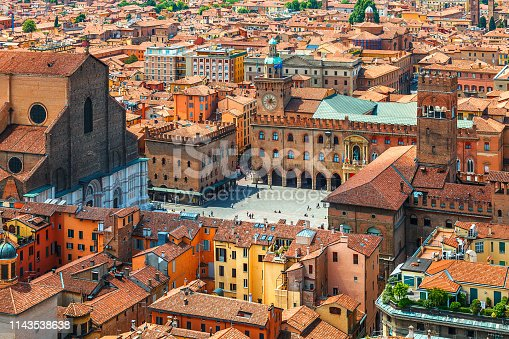 istock Italy Piazza Maggiore in Bologna old town 1143538638