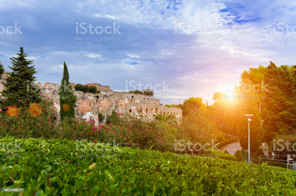 Italy. Pompeii- archaeological zone royalty free stockfoto