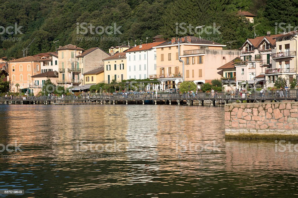 Italy - Porto Ceresio and Ceresio Lake stock photo