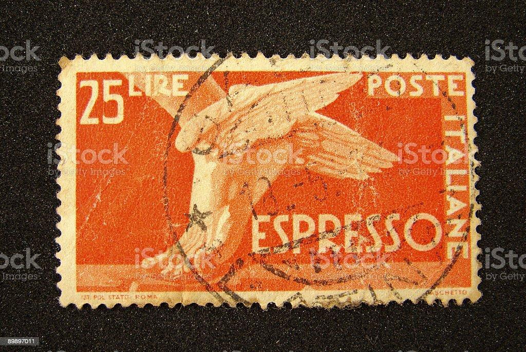 Italia sello postal foto de stock libre de derechos