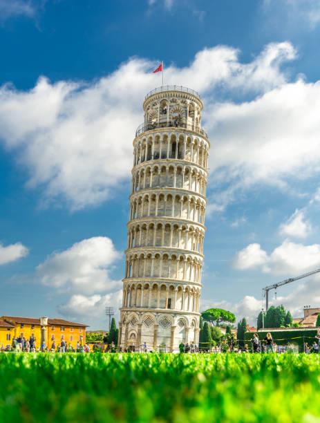 italië-rome-pisa-torre di pisa - pisa stockfoto's en -beelden