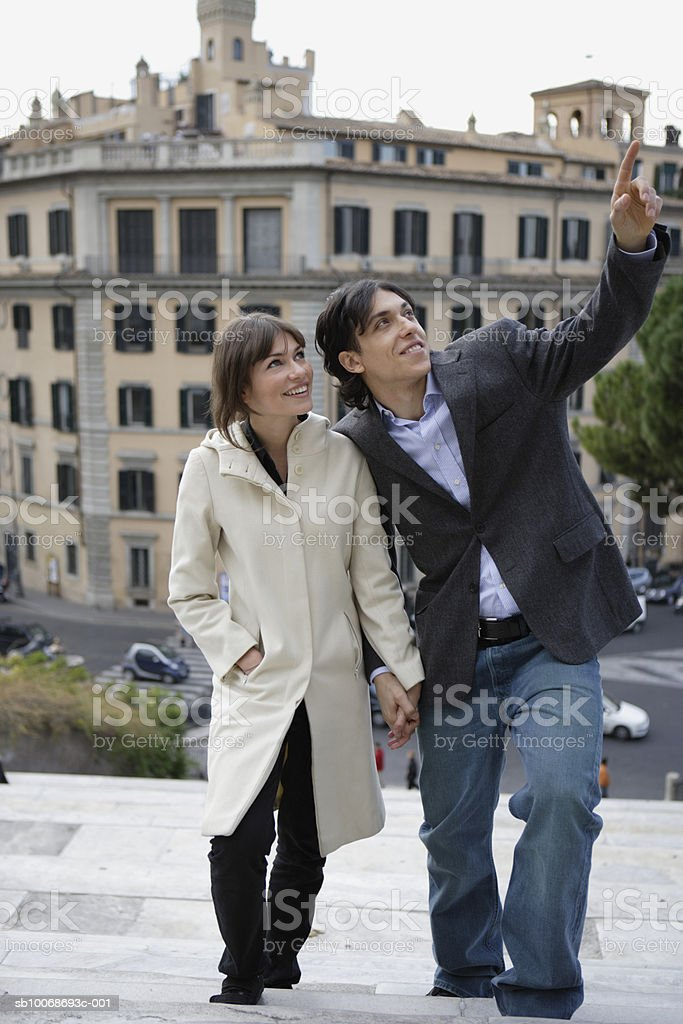 Italy, Rome, couple sightseeing royalty-free stock photo