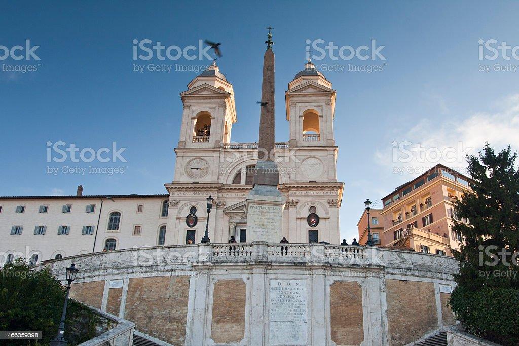 Italy - Rome, Trinità dei Monti stock photo