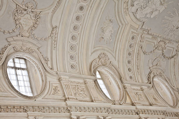 Italy - Royal Palace: Galleria di Diana, Venaria stock photo