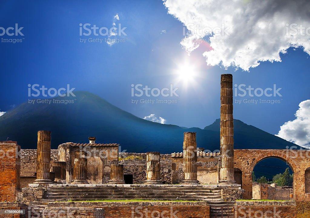 Itália. Ruínas de Pompeu - foto de acervo