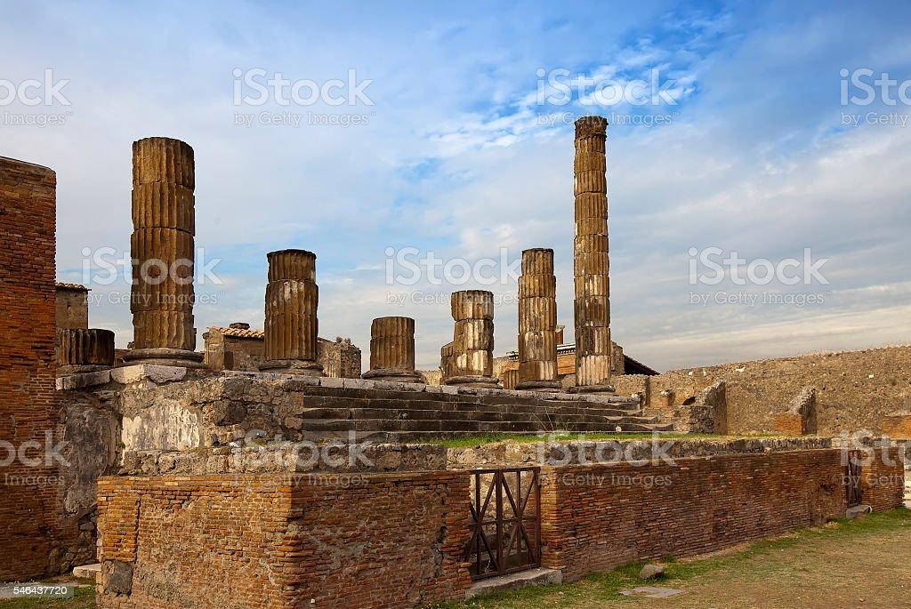 Itália. Ruínas de Pompeu. - foto de acervo