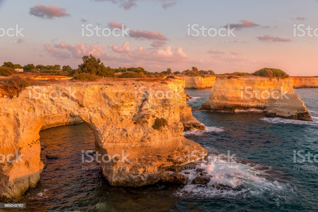 Italy, Santo Andrea cliffs in Puglia royalty-free stock photo