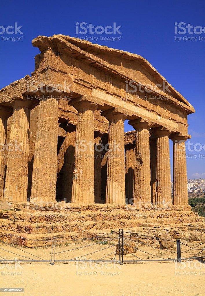 Agrigento, Sicilia, Italia. Valle dei templi, Tempio di Concordia. - foto stock