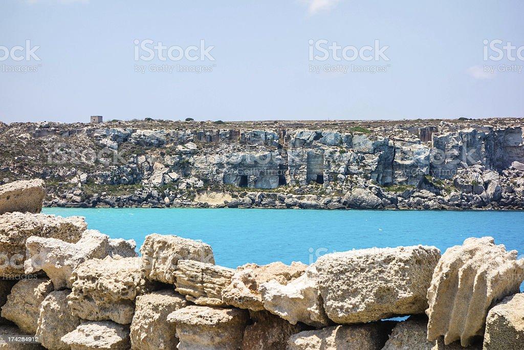 Italy, Sicily, Favignana island, Cala Rossa. royalty-free stock photo