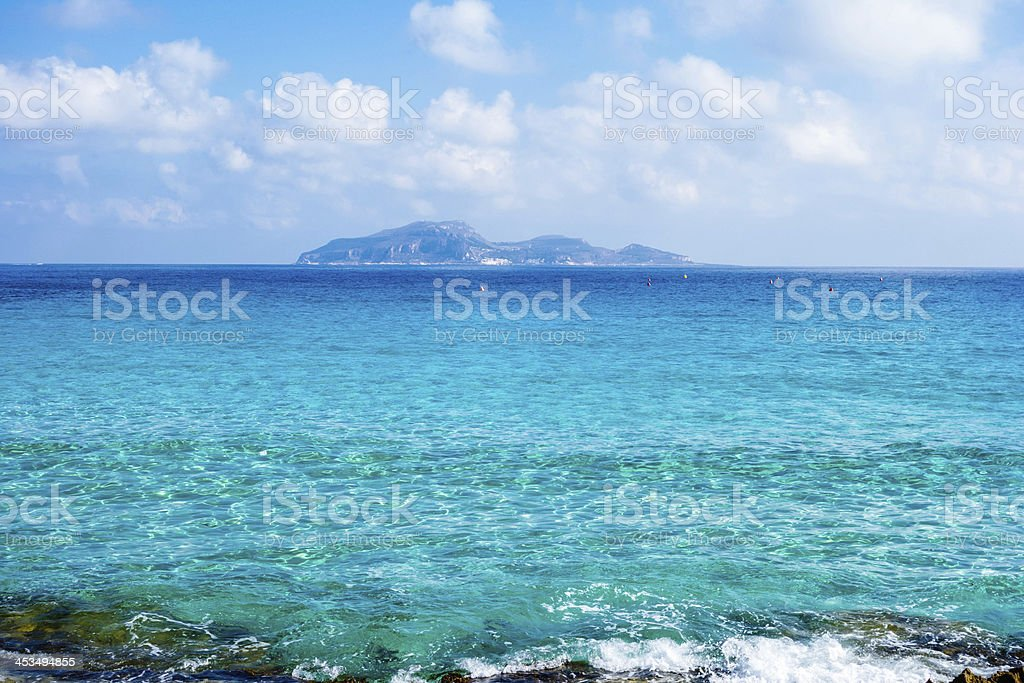 Italy, Sicily, Favignana island, Cala Rossa. royalty-free stock photo